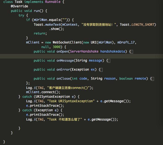 Websocket application in android - Programmer Sought