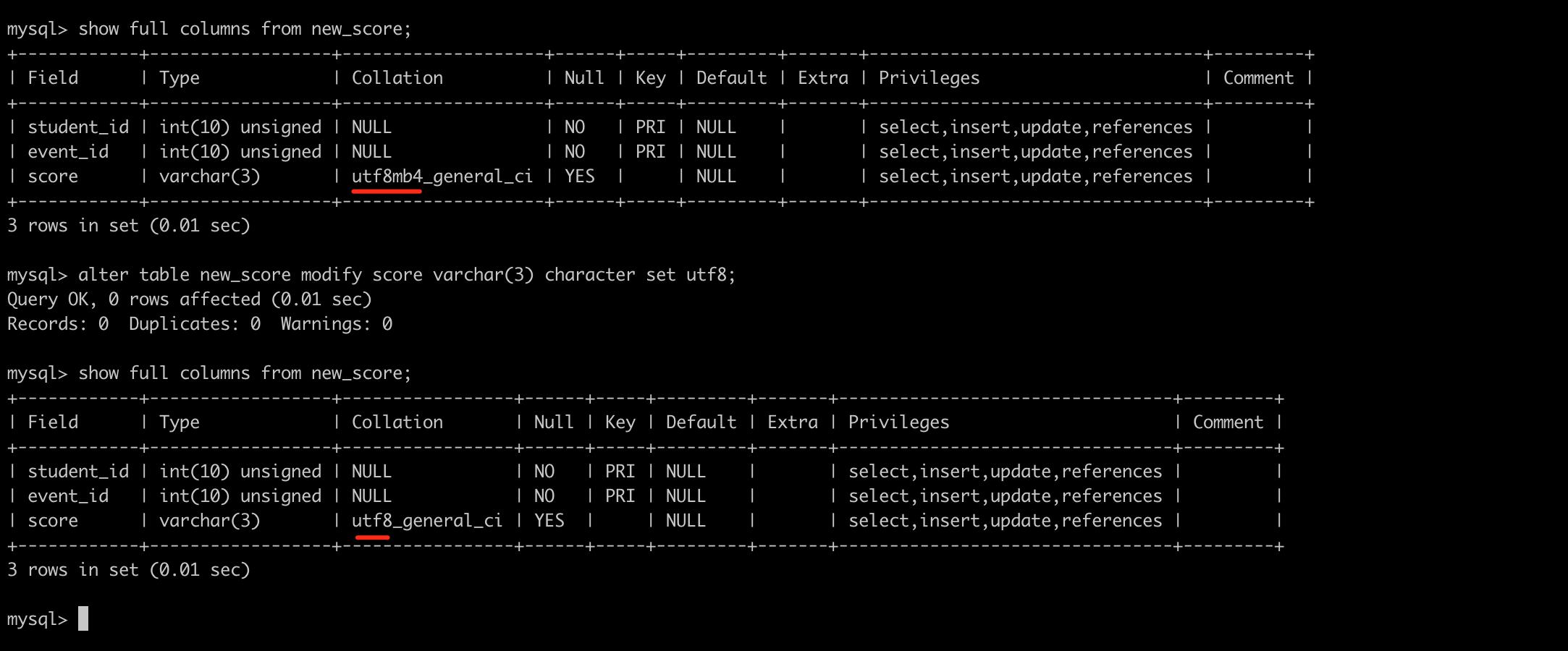 Mysql database alter modify table - Programmer Sought