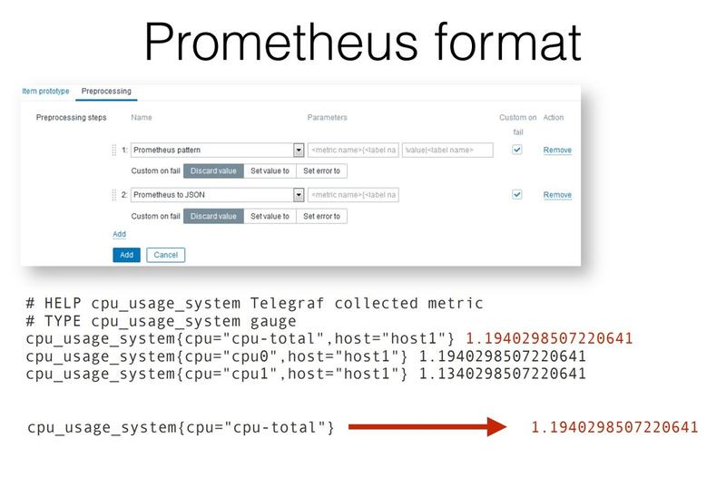 Zabbix 4 2 release: support Prometheus data collection, greatly