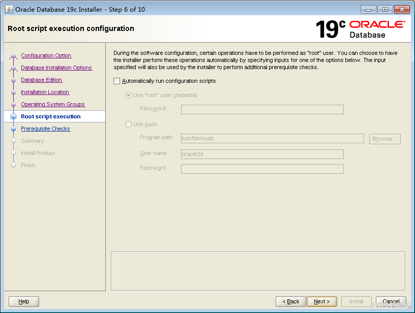 Oracle 19C download and installation deployment (graphical
