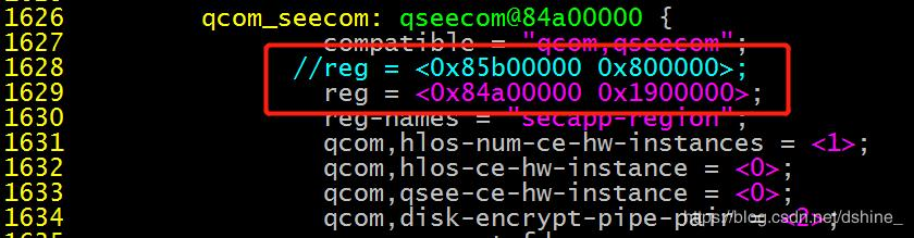How to modify the stack size occupied by tz in QSEE