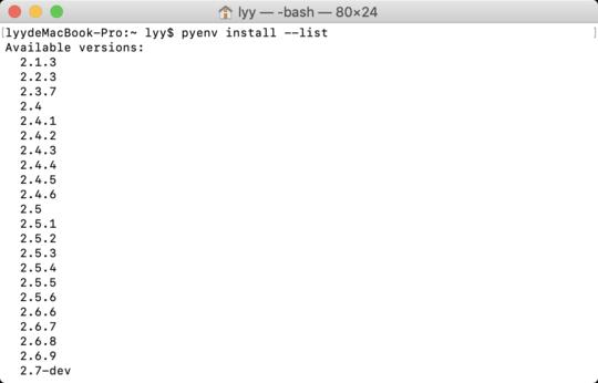 Use pyenv to manage multiple versions of python under mac