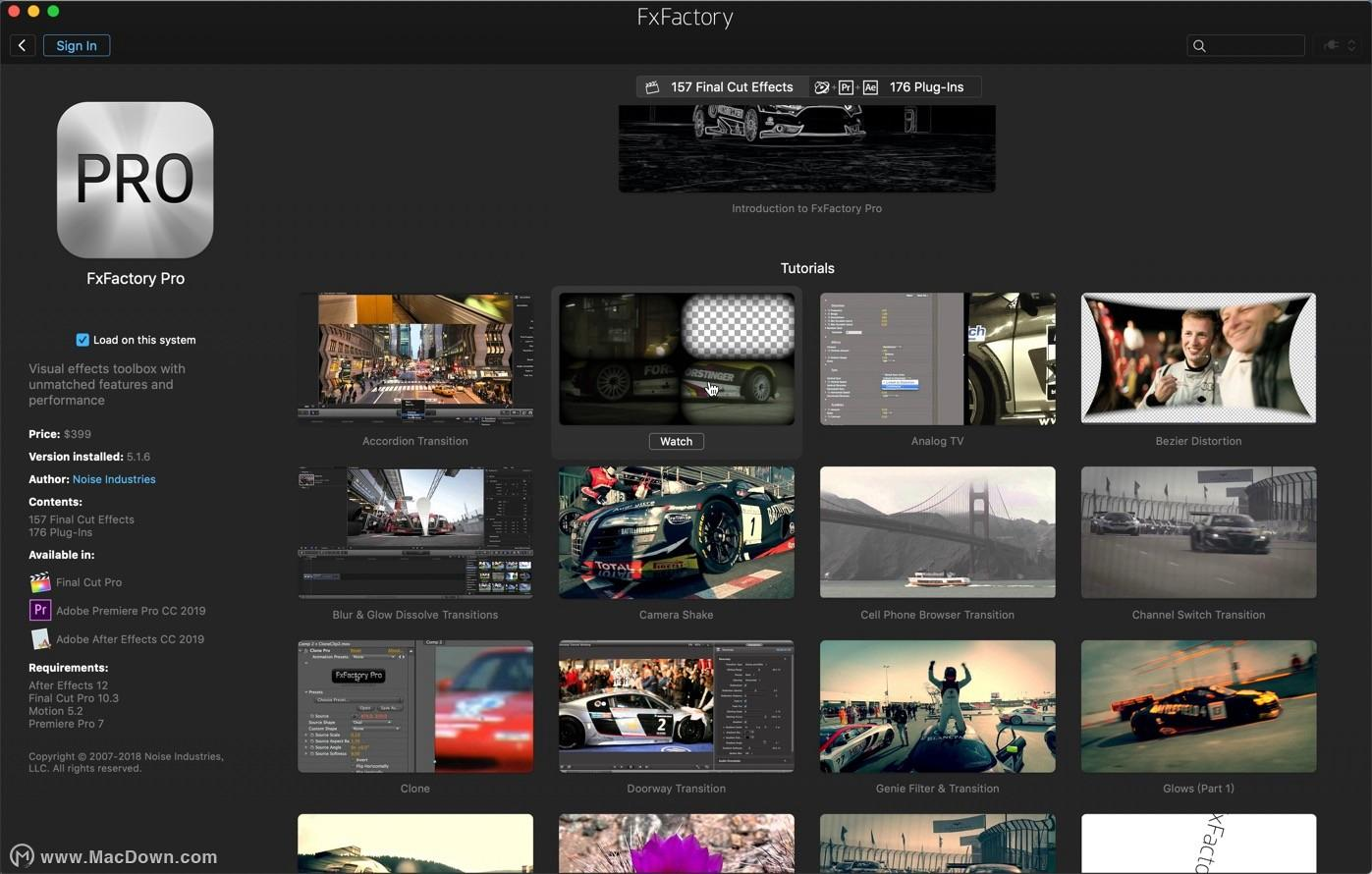 FxFactory 7 Pro for Mac v7 1 2 (6004) - visual effects plug