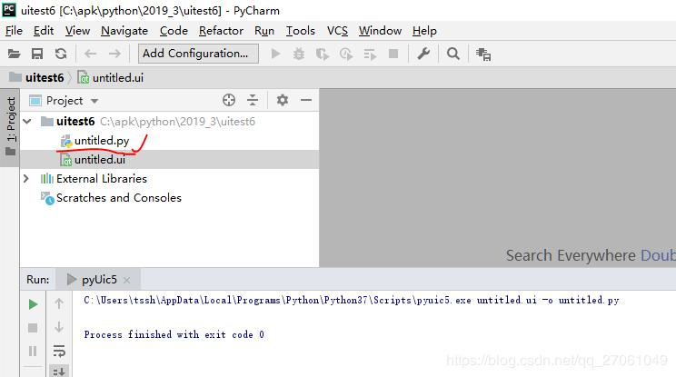Pycharm+PyQt5+python development environment configuration