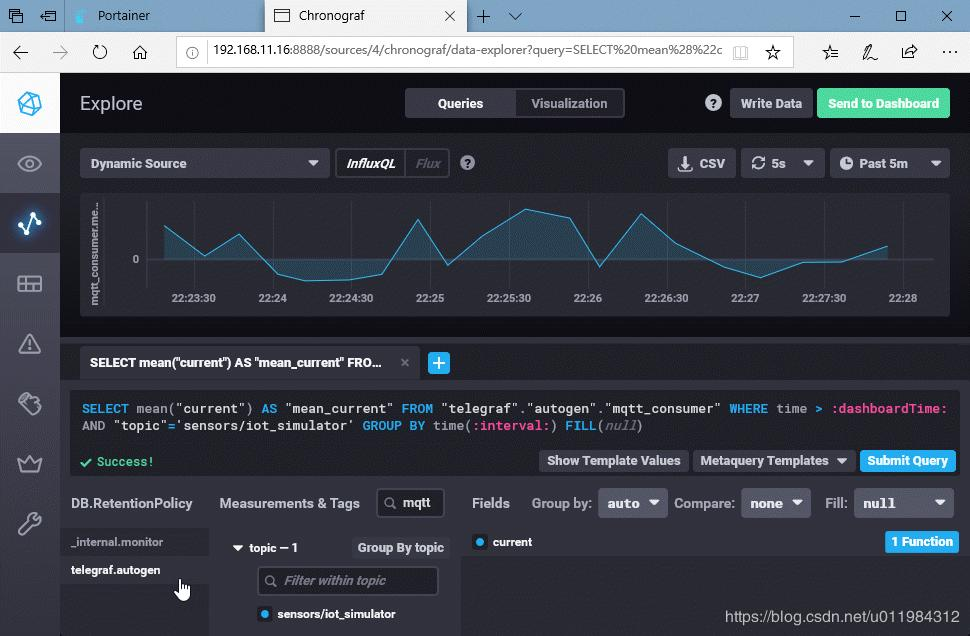 Docker deploys TICK+Mosquitto to realize graphical