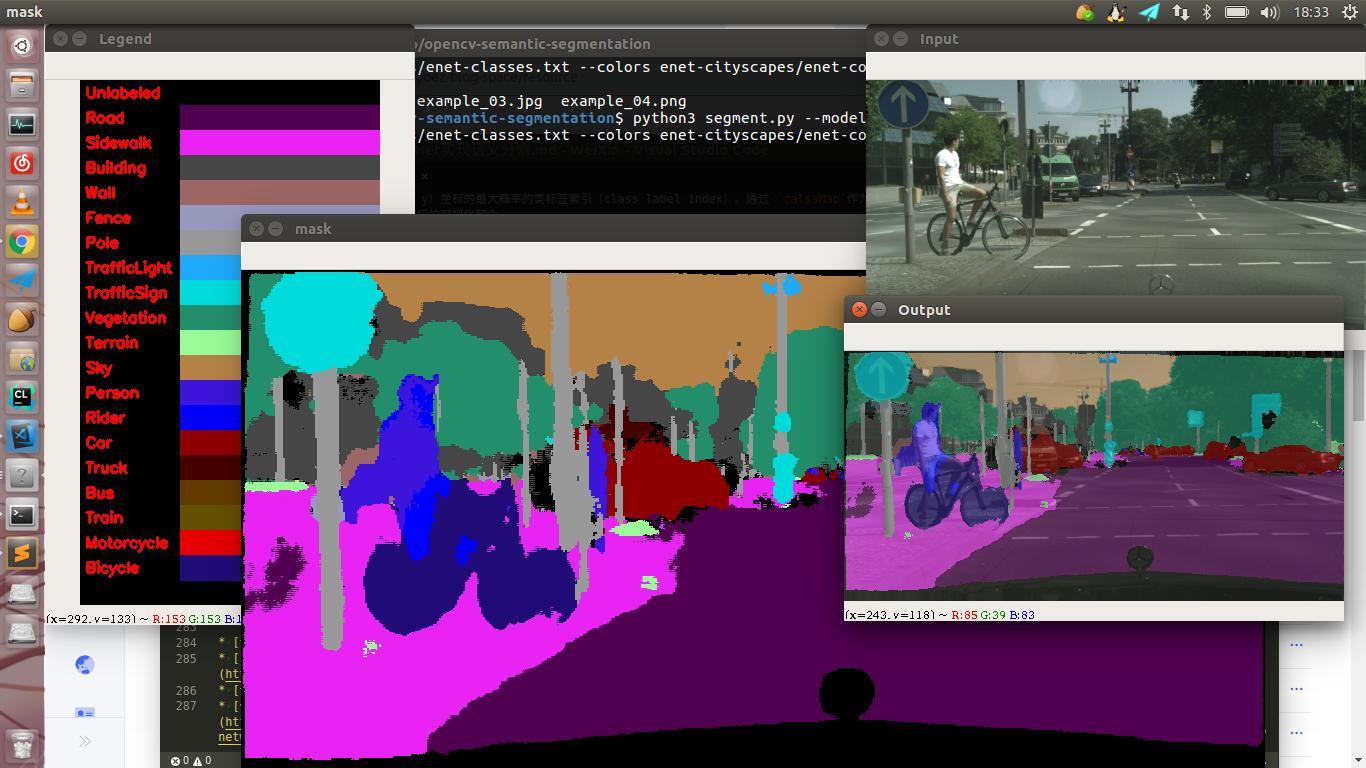 Semantic segmentation using OpenCv+ENet - Programmer Sought