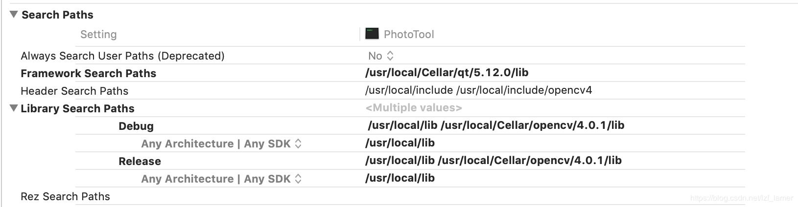 Configure OpenCV for XCode under MacOS and enable the QT
