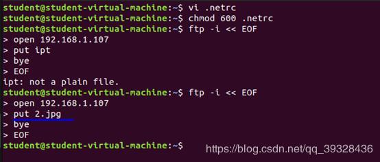 FTP under Linux