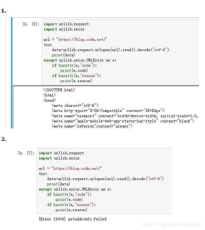 Python learning crawler - crawler exception handling