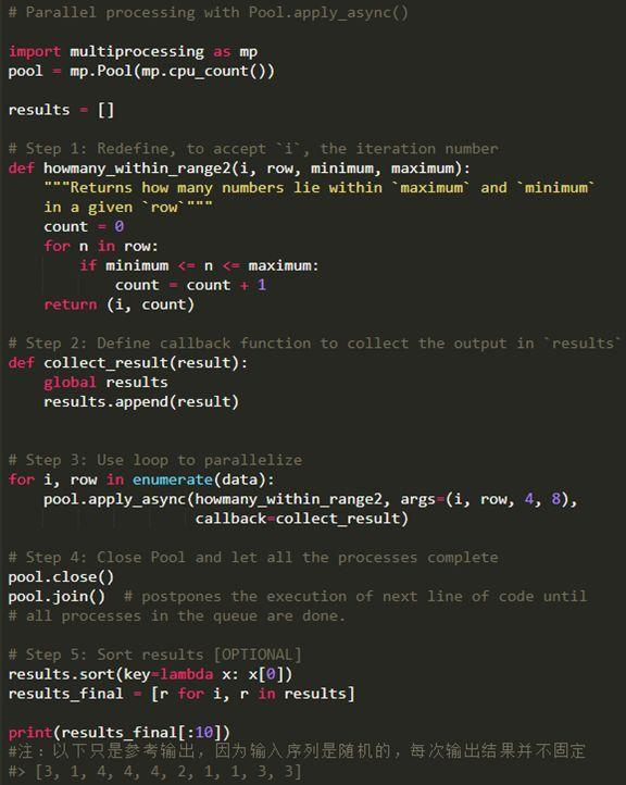 Parallel Processing in Python: An Example Programming Guide