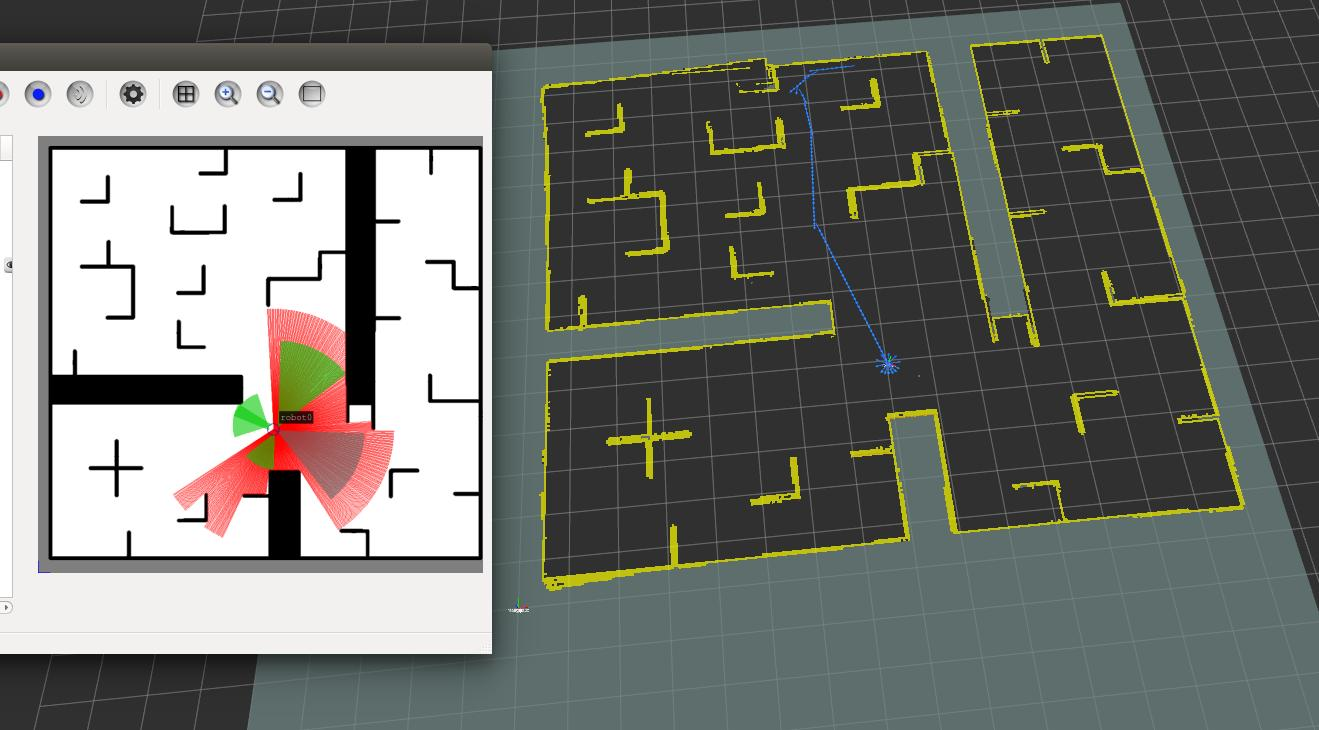 3  Build a 2D raster map using gmapping in the STDR simulator