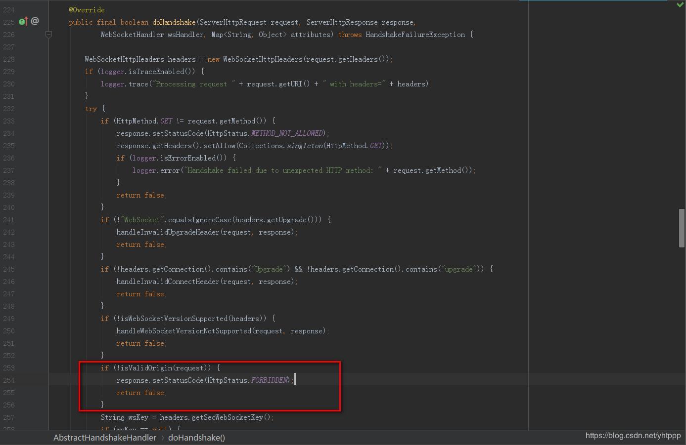 Spring websocket interface check token problem - Programmer
