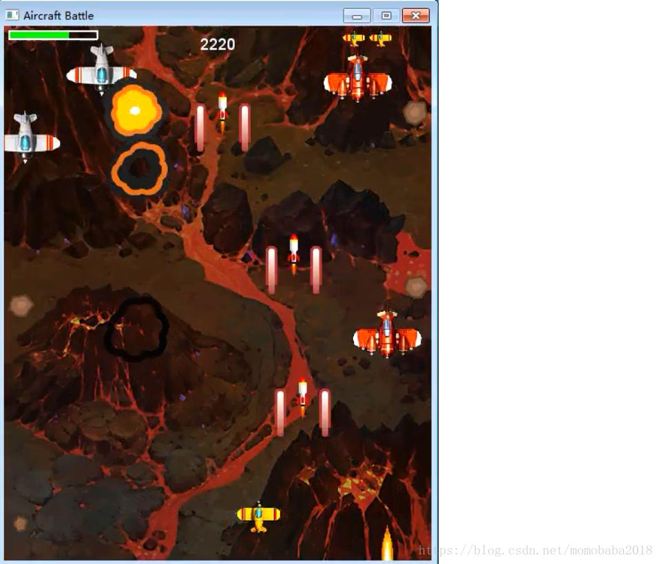 Python to achieve aircraft war game - Programmer Sought