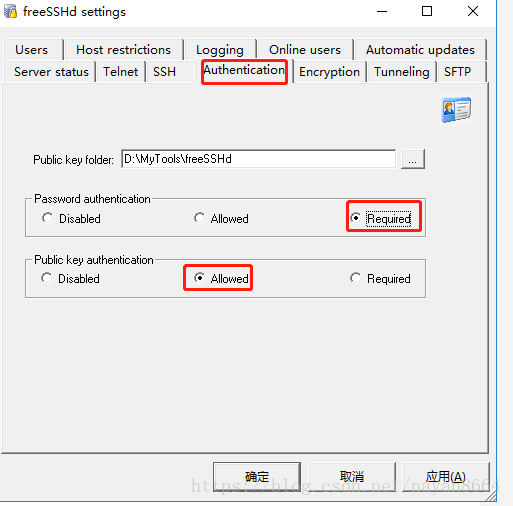 SFTP server-freeSSHd environment setup and java connection