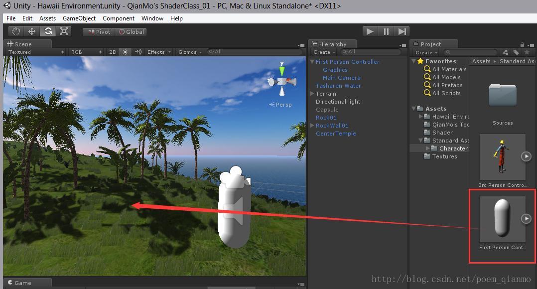 Unity3D Shader Programming] One Hawaiian Game Scene Creation