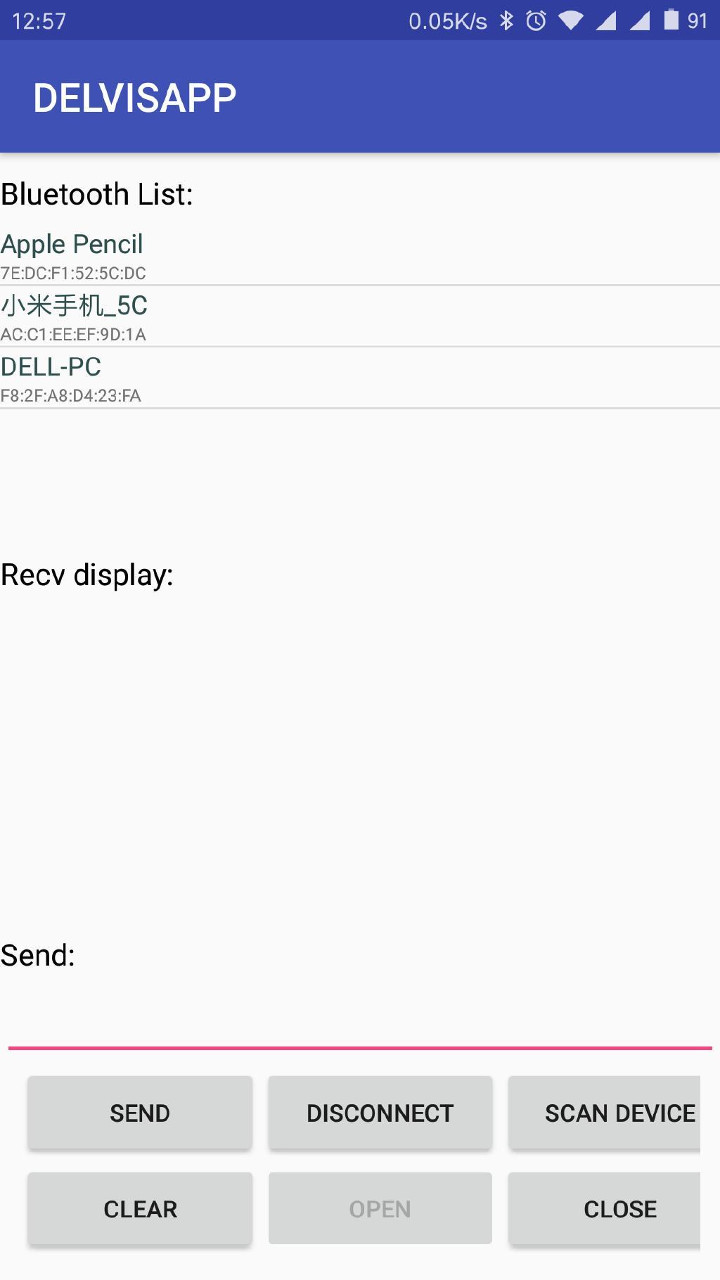 Android serial port Bluetooth communication development Java version
