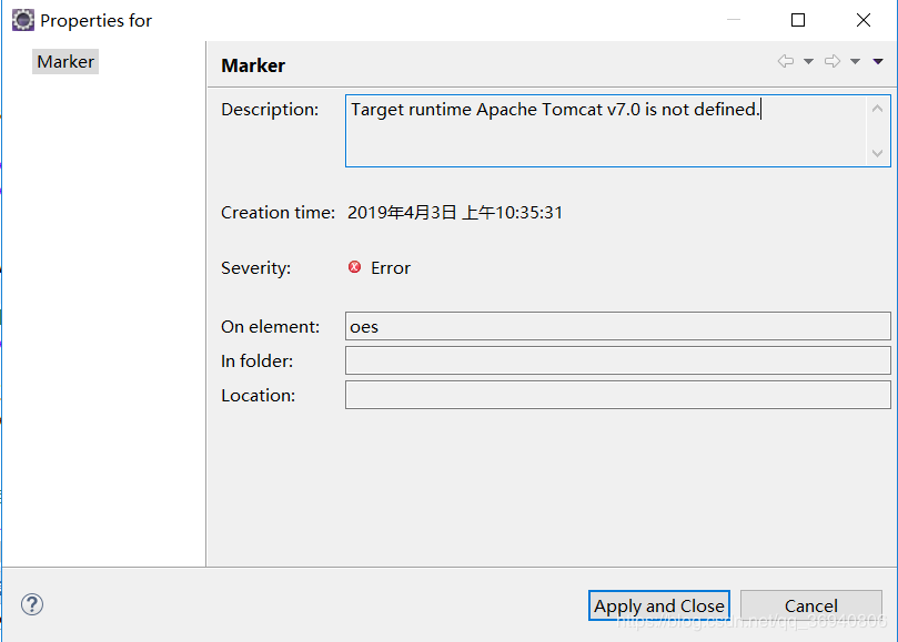 About Target runtime Apache Tomcat v7 0 is not defined Wrong