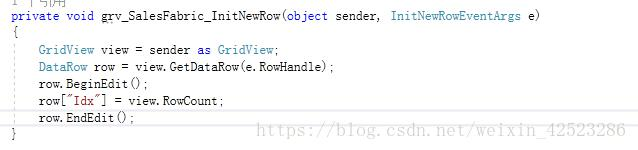 C# gridView common property settings - Programmer Sought