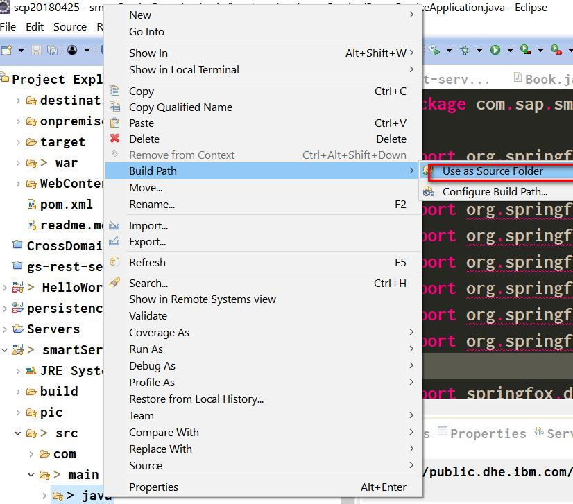 How to handle Eclipse error messages The declared package