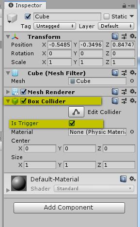 Unity - the difference between a trigger and a collider (the