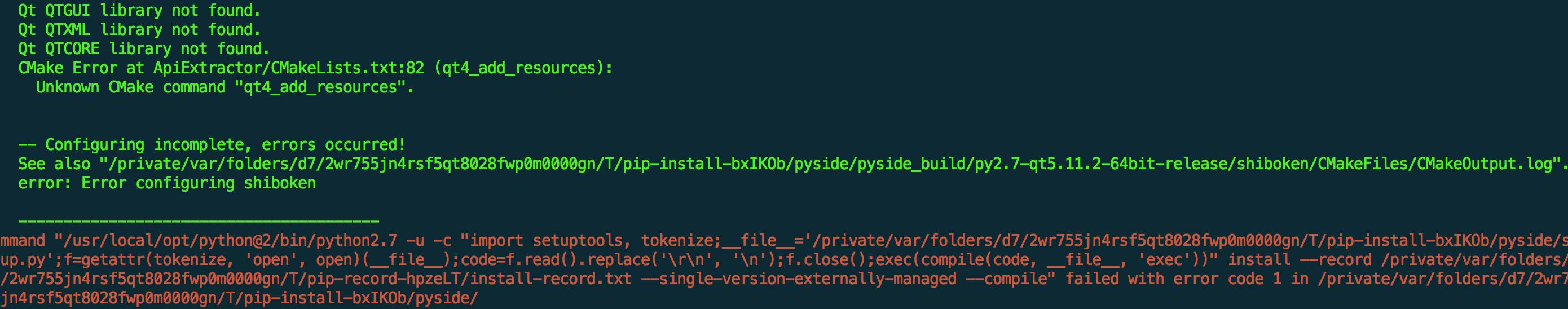 Install Python's PySide library on Mac - Programmer Sought