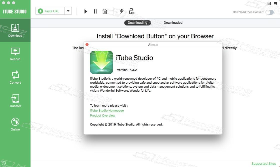 iTube Studio for Mac (HD Video Downloader) V7 3 2 crack