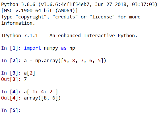 Python data analysis and display (a) Numpy library entry