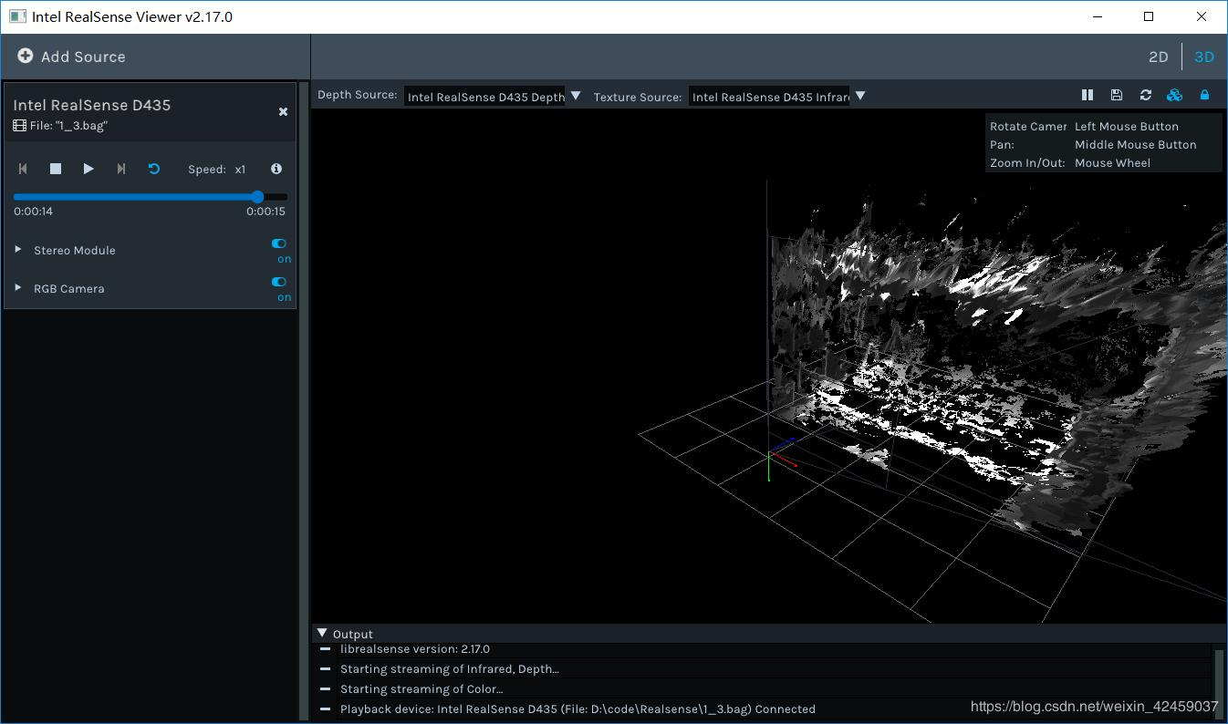 RealSense D435 point cloud acquisition and processing - Programmer