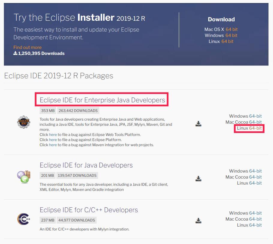 Eclipse Ide For Enterprise Java Developers