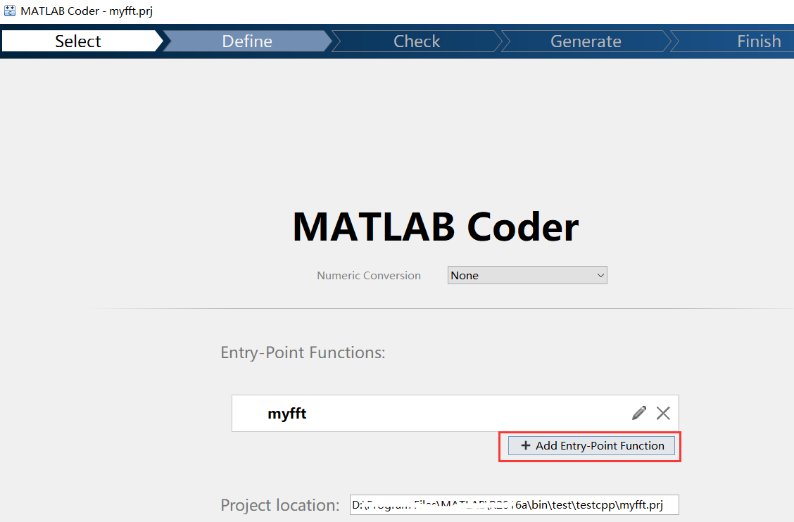 Convert matlab code to c code based on Matlab Coder