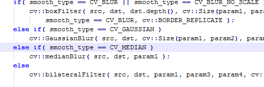 Median filter medfilt2() in matlab and medianblur() in opencv are