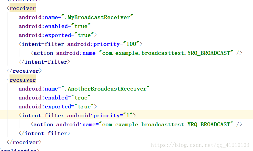 Android's basic series (3) Broadcast Receiver - Programmer Sought