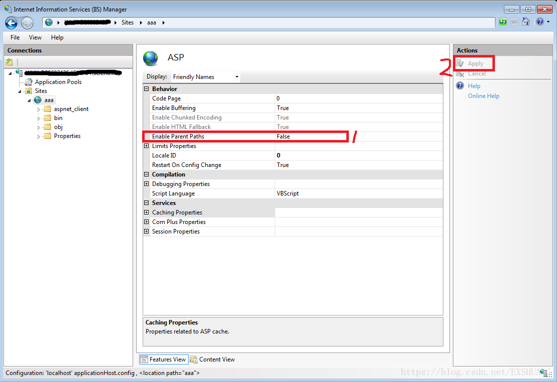 Detailed method and common debugging problem of enabling IIS7 to