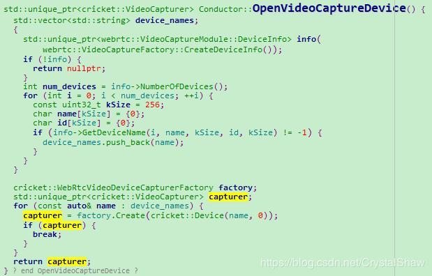 Webrtc code to read one (start camera) - Programmer Sought