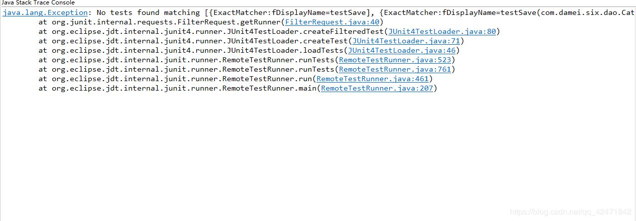 Solve the JUnit test: java lang Exception: No tests found