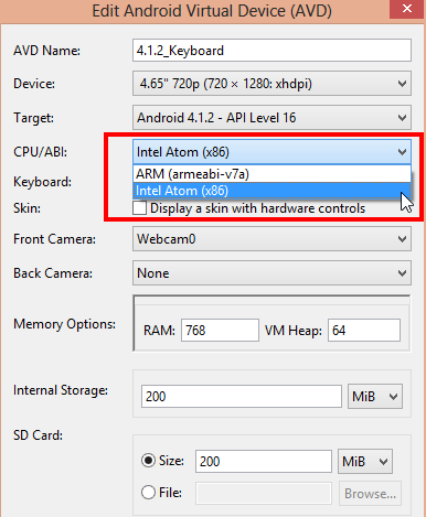 Accelerate for Android emulators with Intel HAXM