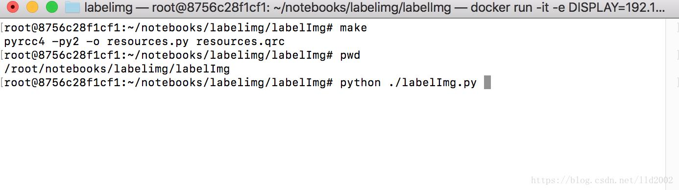 LabelImg successfully installed on Docker on Mac