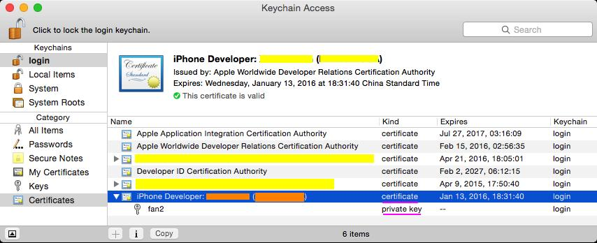 Several certificates related to iOS-developers - Programmer