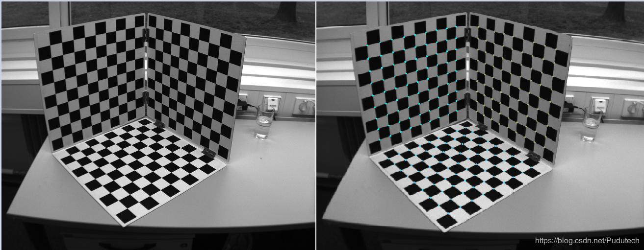 High-precision checkerboard corner detection and board growth