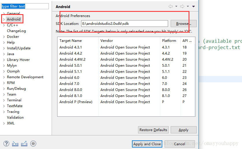 Sdk manager in eclipse can't open flashback / often encounter